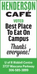 HENDERSON CAFÉ  VOTED Best Place To Eat On Campus