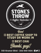 STONE'S THROW Voted BEST COFFEE SHOP TO STUDY OR WORK IN