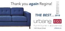 Urbane EQ3 Wants to Thank You Again Regina!