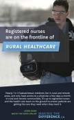 Registered nurses are on the frontline of RURAL HEALTHCARE