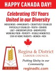 Regina & District Labour Council wishes you a HAPPY CANADA DAY!